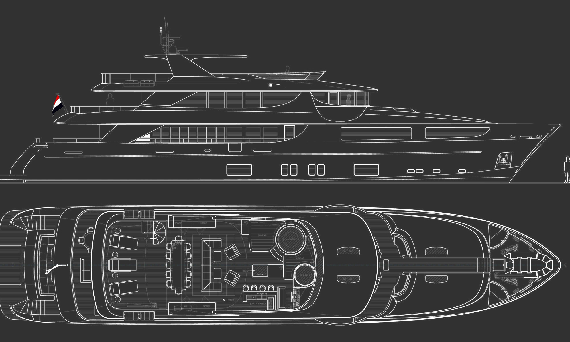 General Arrangement — Wijk Yacht Creation