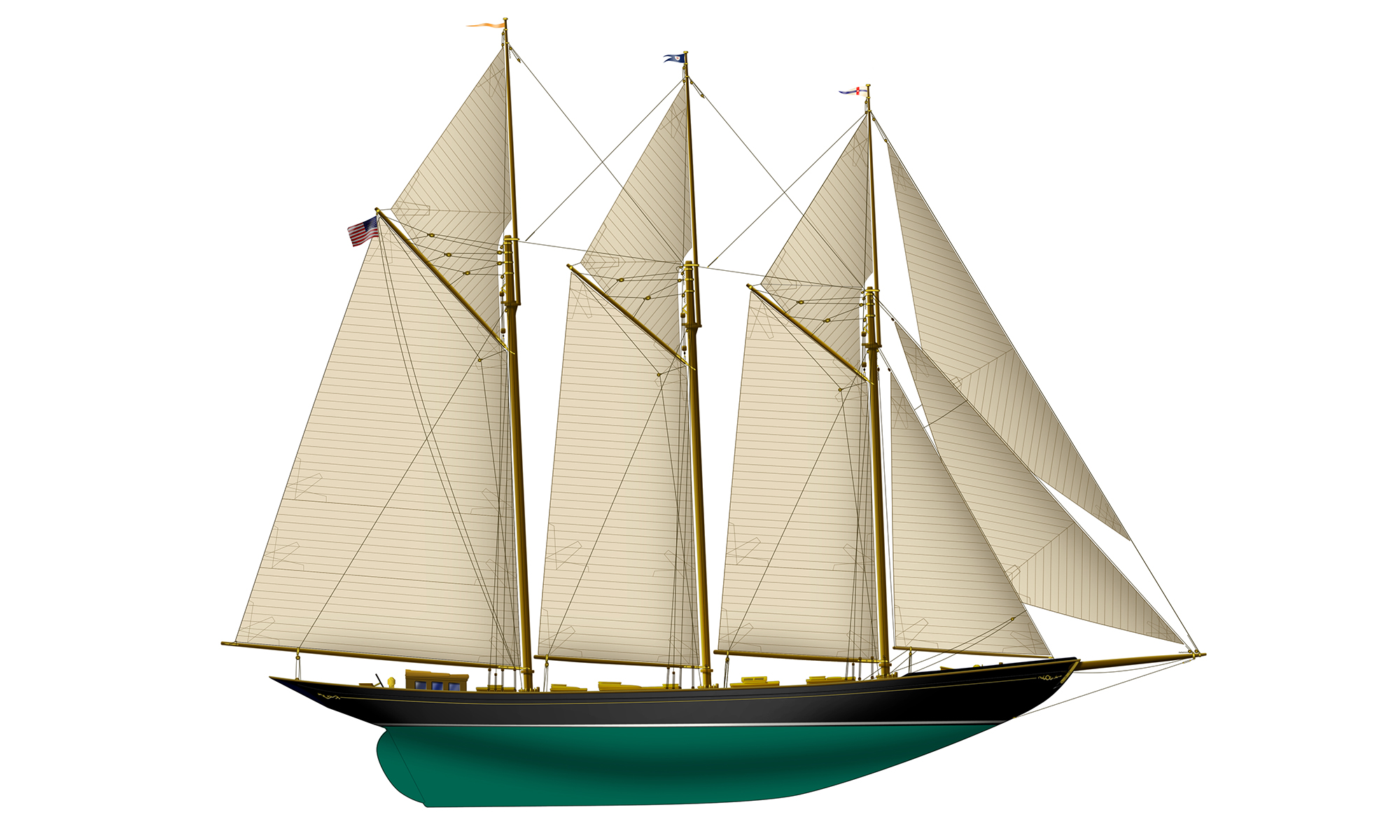 Photoshop_Schooner_Classic_Yacht_Rendering_Yacht_Creation